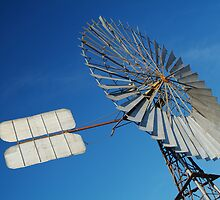Big Outback Windmill, Boulia,Qld by Joe Mortelliti