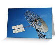 Big Outback Windmill, Boulia,Qld Greeting Card