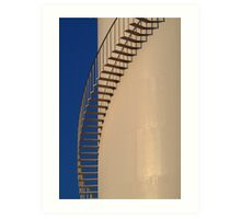 Shadows,Industrial Storage Tank Art Print