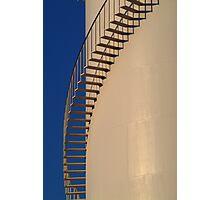 Shadows,Industrial Storage Tank Photographic Print