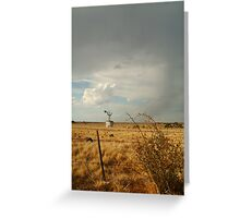 Passing Rain,Geelong District Greeting Card