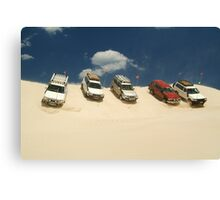 Dune Drivers,Robe Beach District South Australia Canvas Print
