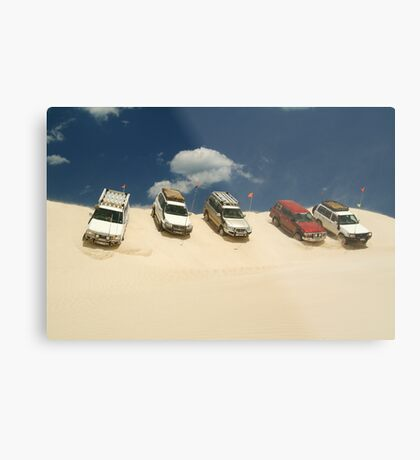 Dune Drivers,Robe Beach District South Australia Metal Print