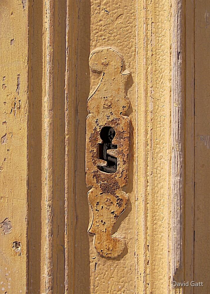 Yellow Keyhole: Mdina Malta, by David Gatt