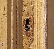 Yellow Keyhole: Mdina Malta, by David Gatt