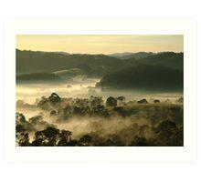 Valley Fog,Dollar, Gippsland Art Print