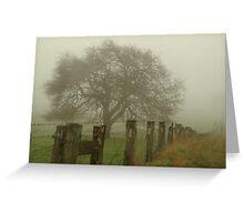 Foggy Morning, Macedon Ranges Greeting Card