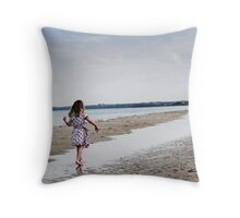 Balancing on water Throw Pillow