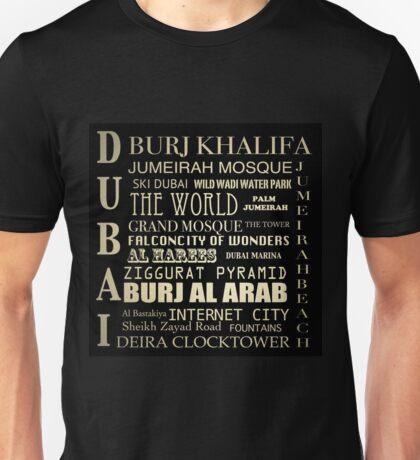 Dubai Famous Landmarks  Unisex T-Shirt