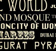 Dubai Famous Landmarks  Sticker