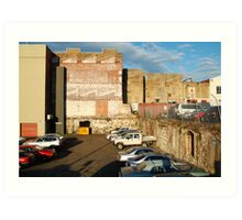 Behind the City Shops,Geelong Art Print