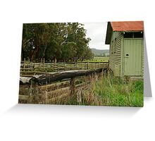 Shearing Shed Greeting Card