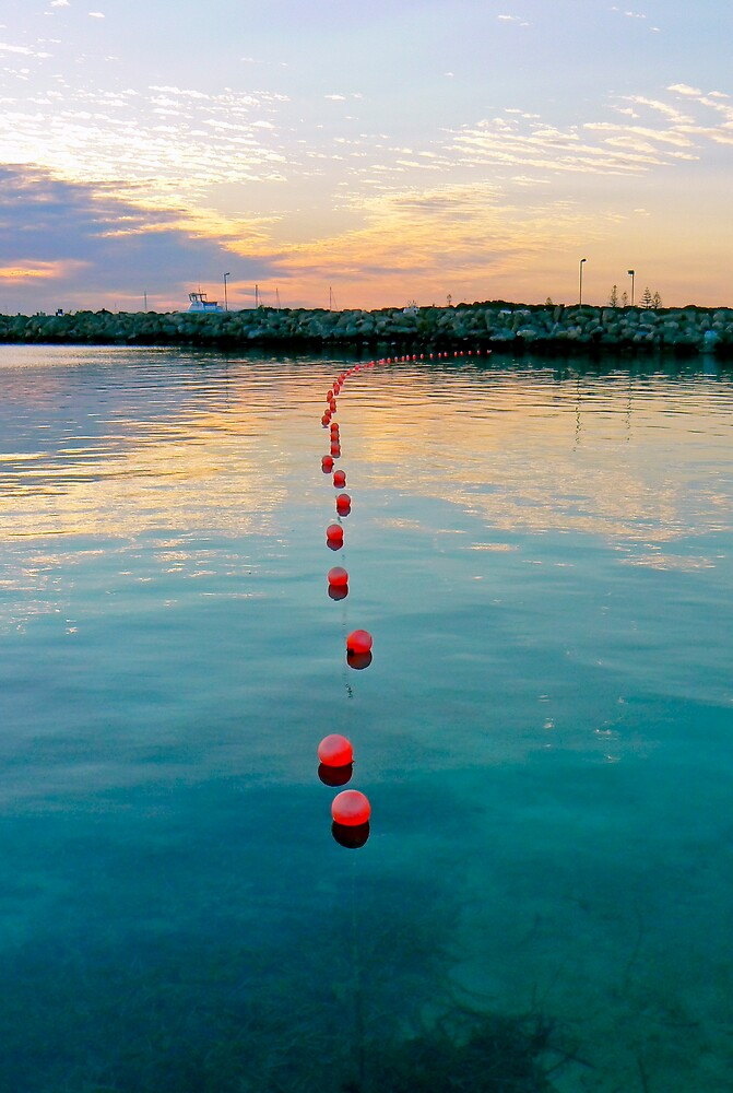 Red Bouys of Rottnest 2 by Kevin Lambert