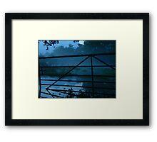 Gate by Moonlight Framed Print