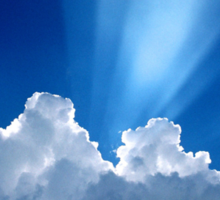 Beautiful Clouds and Blue Sky Sticker