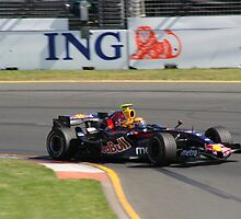 Mark Webber in the Red Bull by Gerard Kennedy