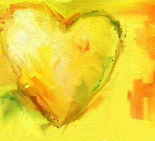 Big Brightyellow Heart by susan fahd