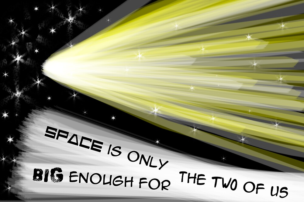Space is only big enough for the two of us by XiauYu