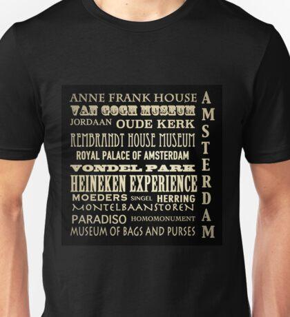Amsterdam Famous Landmarks Unisex T-Shirt