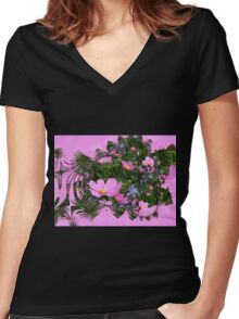 Fractal Cosmos Women's Fitted V-Neck T-Shirt