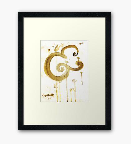 Bold Brush Script Ampersand in Stain by Kosta for Finnllow Framed Print