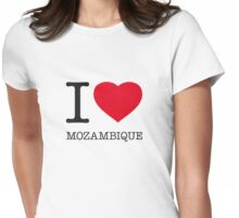 I ♥ MOZAMBIQUE Womens Fitted T-Shirt