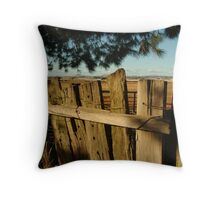 Ascot Farm Lands Throw Pillow
