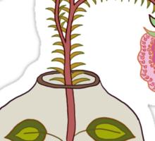 flower pot and three flower illustration Sticker