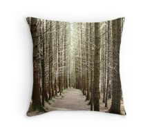 Forest on the Isle of Skye Throw Pillow