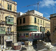 Corner Building Valletta by David Gatt