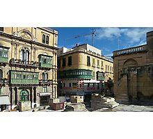 Corner Building Valletta Photographic Print