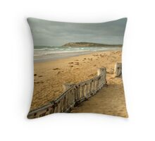 Early Morning Raaf's Beach Throw Pillow