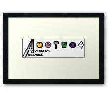 Avengers Assemble 8-bit Framed Print