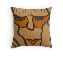 bored woman Throw Pillow
