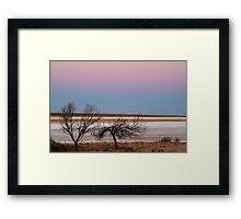 Salt Flats Simpson Desert,S.A. Framed Print