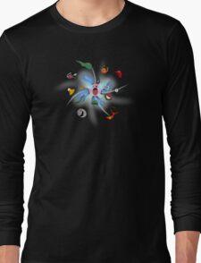 KIRBY THE INHALER Long Sleeve T-Shirt