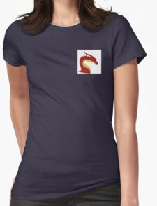 simplistic dragon Womens Fitted T-Shirt