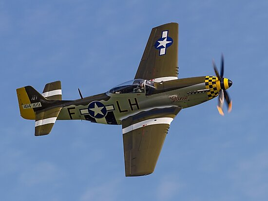 """P-51D Mustang 45-15118 G-MSTG """"Janie"""" by Colin Smedley"""