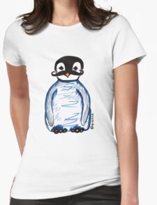 Penguin Mustache Womens Fitted T-Shirt