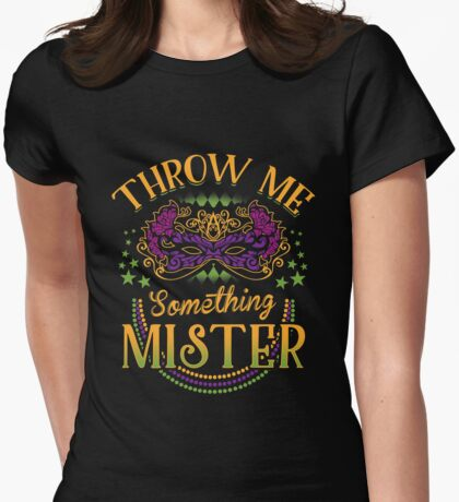 Mardi Gras Parade Womens Fitted T-Shirt