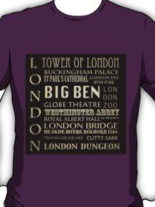 London Famous Landmarks T-Shirt