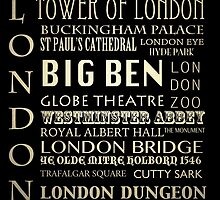 London Famous Landmarks by Patricia Lintner
