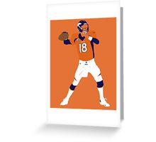 Peyton Williams Manning Greeting Card