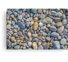 Background Of Smooth River Stones Canvas Print