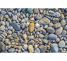 Background Of Smooth River Stones Photographic Print