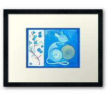'PEACH BLOSSOM RAT ' Framed Print