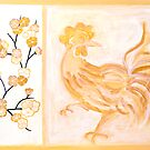 'PEACH BLOSSOM ROOSTER' by energymagic
