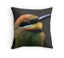 Rainbow Bee-Eater Throw Pillow