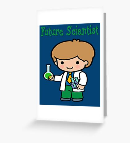Cute Future Scientist Gifts Greeting Card