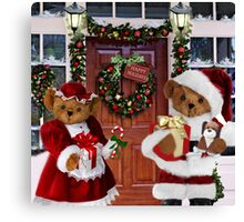¨*•♫♪¸¸HAVE YOURSELF A BEARY LITTLE CHRISTMAS - PICTURE, MUGS,TRAVEL MUGS,PILLOW, & TOTE BAG ho HO ho¨*•♫♪¸¸ Canvas Print